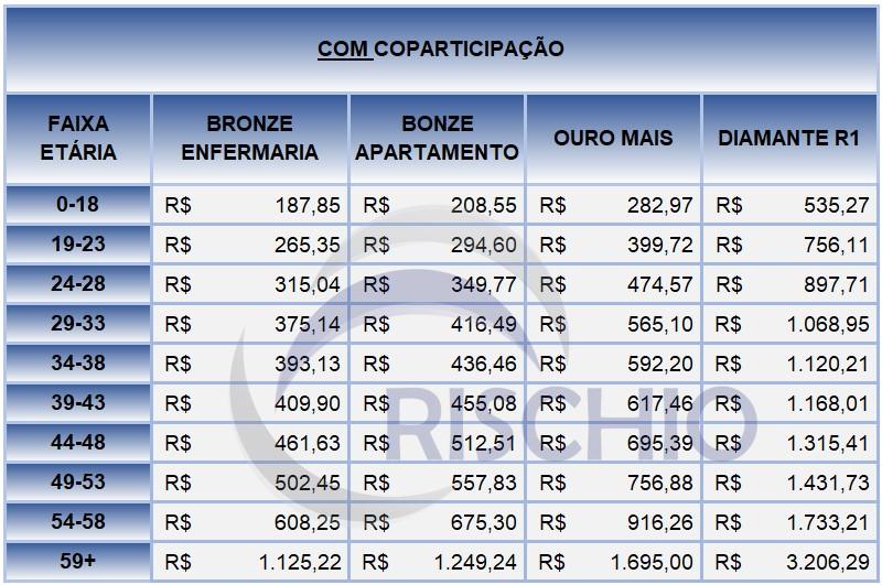 preço plano de saúde porto seguro com coparticipação